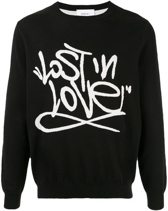 Ports V Lost in Love-print sweatshirt