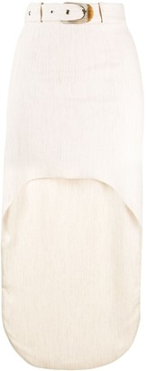 MATÉRIEL asymmetric draped skirt