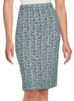 St. John Textured Knit Pencil Skirt