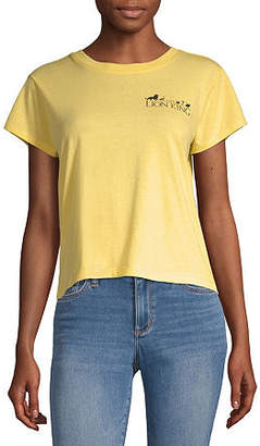 Disney Collection-Juniors Lion King Womens Crew Neck Short Sleeve The Lion King Graphic T-Shirt