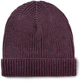Boglioli - Ribbed Garment-dyed Virgin Wool, Silk And Cashmere-blend Beanie