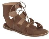 Sole Society Women's 'Cady' Lace-Up Flat Sandal