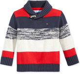 Tommy Hilfiger Baby Boys' Shawl-Collar Colorblocked Sweater
