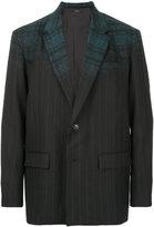 Taakk striped classic blazer