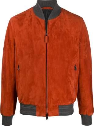 Brioni suede zipped jacket