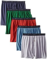 Hanes Red Label Men's 5-Pack Exposed-Waistband Knit Boxers , Assorted.