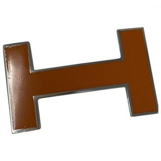 Hermã ̈S HermAs Boucle seule / Belt buckle Orange Metal Belts