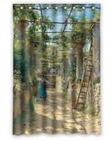 SherieHallborg Polyester Beautiful Scenery Landscape Painting Bathroom Curtains Width X Height / 48 X 72 Inches / W * H 120 By 180 Cm Gift Or Decor For Teens Girls Girls Custom Boys. With