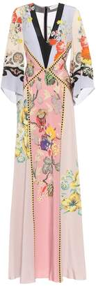 Etro Floral silk maxi dress