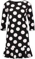 Wallis STATEMENT Jersey dress black