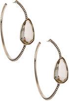 Stephen Dweck Sterling Silver Rock Crystal Hoop Earrings