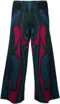 Circus Hotel patterned cropped trousers - women - Polyester/Viscose - 40
