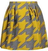 Alice + Olivia Alice+olivia Connor Houndstooth Wool-Blend Jacquard Mini Skirt