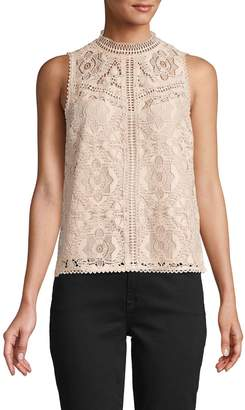 Saks Fifth Avenue Play Nice Crochet Lace Top