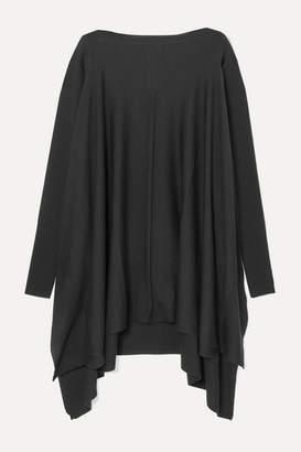Rick Owens Convertible Cutout Draped Wool Sweater - Black