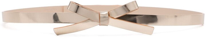Paule Ka Bow-Detail Leather Belt