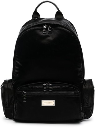 Dolce & Gabbana Logo-Plaque Backpack