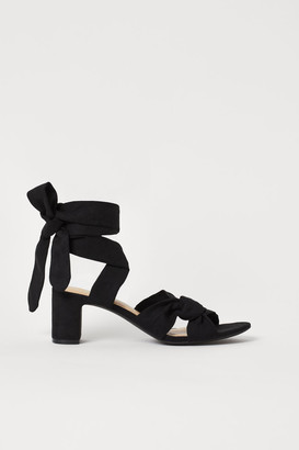 H&M Tie-strap Sandals - Black