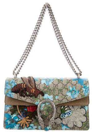 Gucci Embroidered Small Dionysus Shoulder Bag