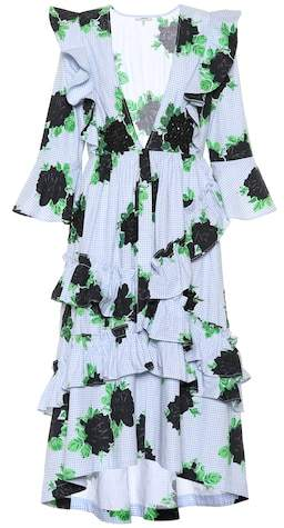 Ganni Pine ruffled cotton dress