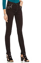 Reba Autum Rose Lupita Black Faux Leather Skinny Jean