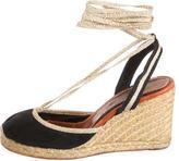 Marc Jacobs Satin Wedge Sandals