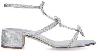 Rene Caovilla Leather Stina Sandals 40