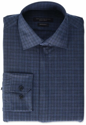 John Varvatos Men's Davidson Regular Fit Long Button Down Dress Shirt