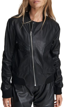 Rag & Bone Leather Flight Bomber Jacket