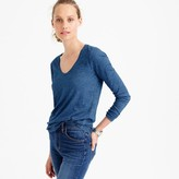 J.Crew Indigo vintage cotton long-sleeve scoopneck T-shirt