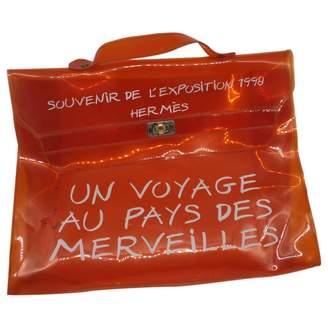 Hermes Kelly 40 Orange Plastic Handbags