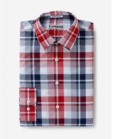 Express slim fit classic plaid dress shirt