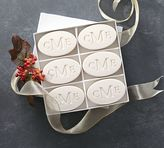 Pottery Barn Monogrammed Oval Paperwhite Soap Set