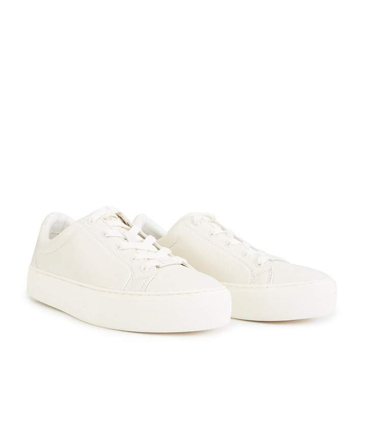 4f434098571 Zilo Leather Lace Up Trainers Colour: WHITE, Size: UK 3