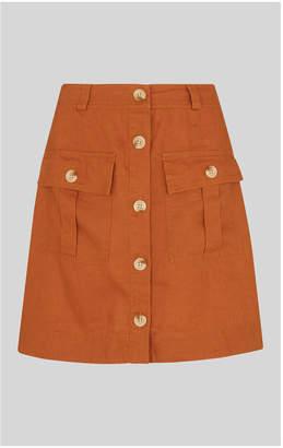 Whistles Linen Pocket A Line Skirt