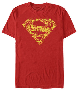 Fifth Sun Tee Shirts RED - Superman Red & Yellow Iconic Logo Crewneck Tee - Adult