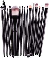 Susenstone 15 pcs/Sets Eye Shadow Foundation Eyebrow Lip Brush Makeup Brushes Tool