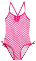 Bebe Gingham Crossback One-Piece Bathing Suit (Big Girls)