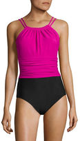 I.N.C International Concepts Jennifer One-Piece Colourblock High Neck Swimsuit