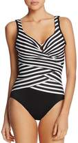 Miraclesuit New Directions Striped One Piece Swimsuit