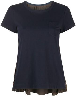 Sacai pleated back panel T-shirt