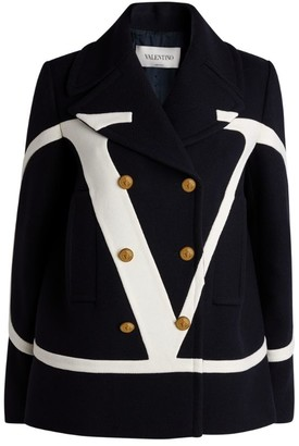 Valentino VLOGO Double-Breasted Pea Coat