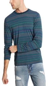 GUESS Men's Saturday Stripe Long-Sleeve Shirt