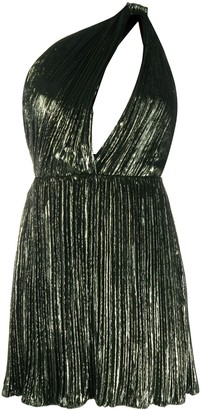Saint Laurent Metallic One Shoulder Dress