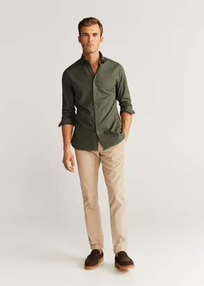 MANGO Slim fit pearl buttons shirt