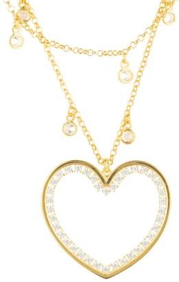 Latelita Heart Large Double Strand Pendant Choker Gold
