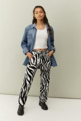 Stan Ray Tiger Print Painter Trousers - Black 27 at Urban Outfitters