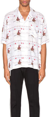 Rhude Cowboy Hawaiian Shirt in White | FWRD
