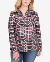 Jessica Simpson Trendy Plus Size Dewi Plaid Shirt