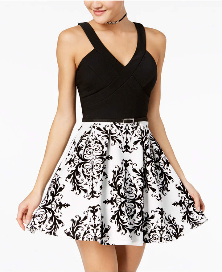c8f8aed63580f Black And White Junior Dress - ShopStyle